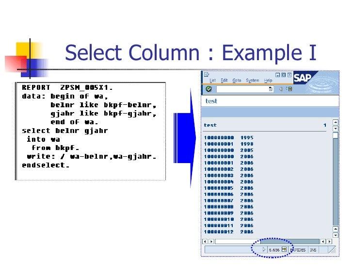 Select Column : Example I