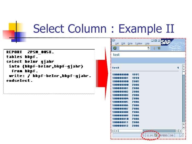 Select Column : Example II