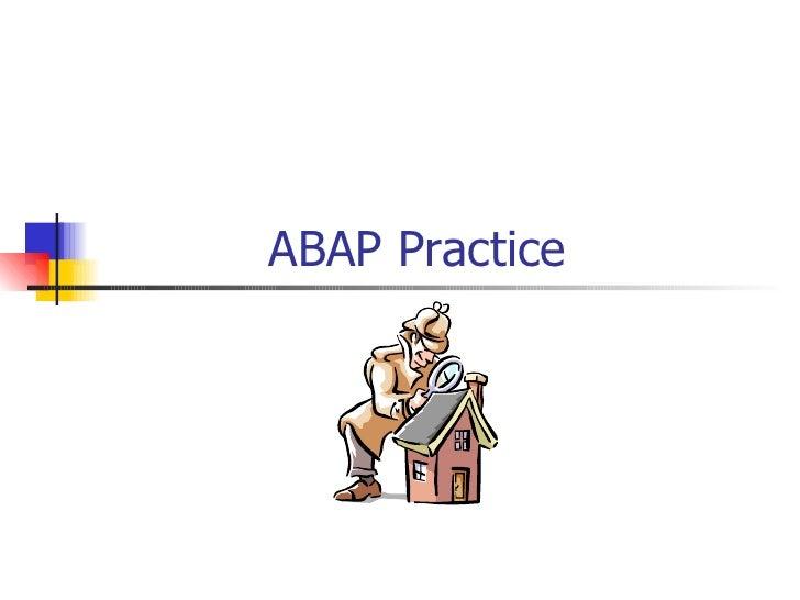 ABAP Practice