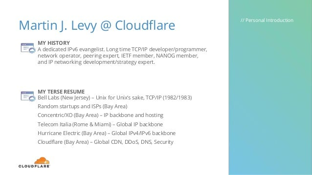 IPv6 @ Cloudflare