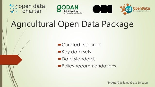 Agricultural Open Data Package By André Jellema (Data-Impact)