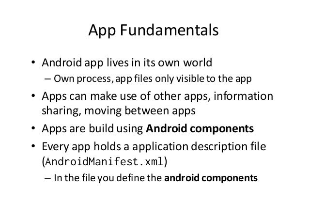 Android Basic Components Slide 2