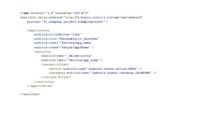 Android Basic Components Slide 3