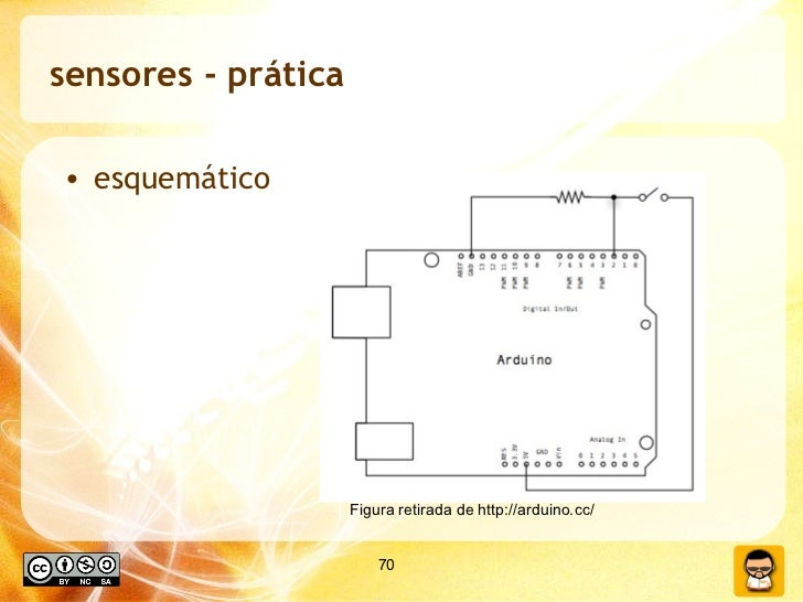 sensores - prática <ul><li>esquemático </li></ul>Figura retirada de http://arduino.cc/
