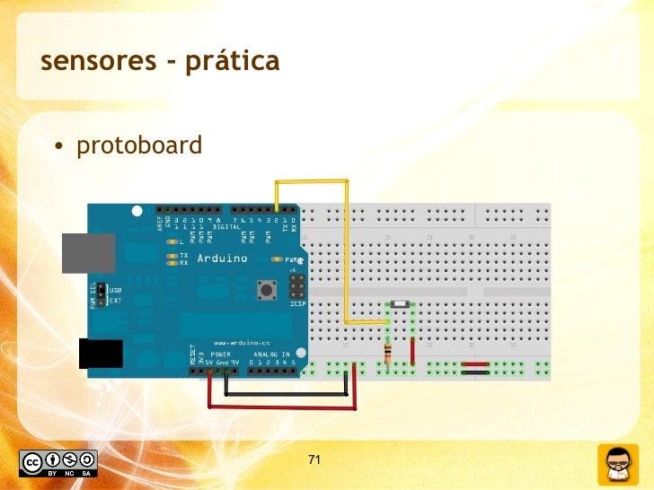 sensores - prática <ul><li>protoboard </li></ul>