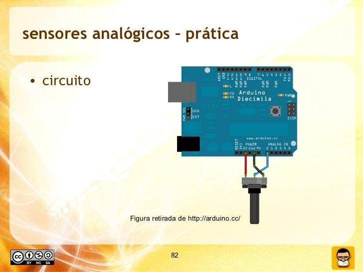 sensores analógicos – prática  <ul><li>circuito </li></ul>Figura retirada de http://arduino.cc/