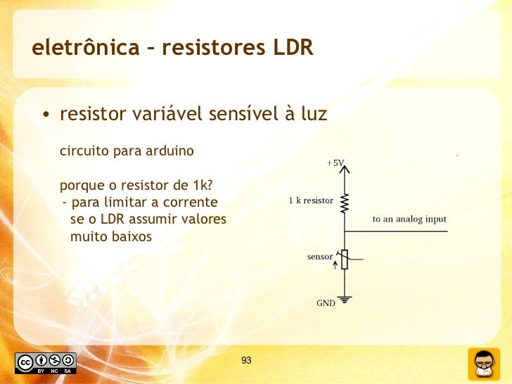eletrônica – resistores LDR <ul><li>resistor variável sensível à luz </li></ul><ul><li>circuito para arduino porque o resi...