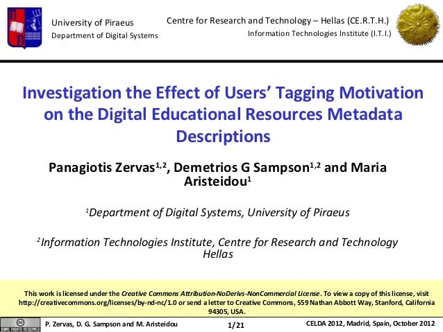 University of Piraeus               Centre for Research and Technology – Hellas (CE.R.T.H.)           Department of Digita...