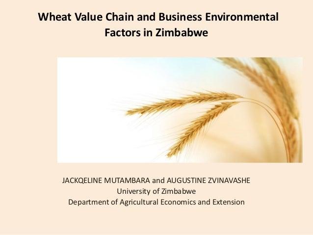 Wheat Value Chain and Business Environmental            Factors in Zimbabwe    JACKQELINE MUTAMBARA and AUGUSTINE ZVINAVAS...