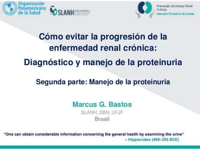 Cómo evitar la progresión de la enfermedad renal crónica: Diagnóstico y manejo de la proteinuria Segunda parte: Manejo de ...