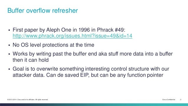 03 - Refresher on buffer overflow in the old days Slide 2