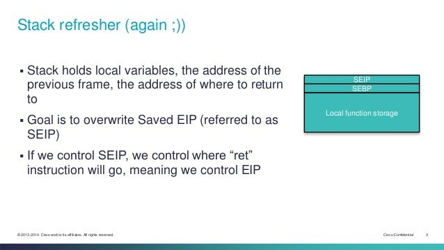 03 - Refresher on buffer overflow in the old days Slide 3