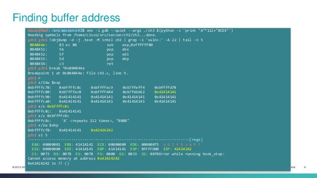03 - Refresher on buffer overflow in the old days
