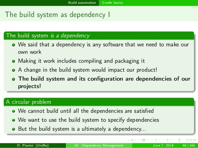 Enforce reproducibility: dependency management and build