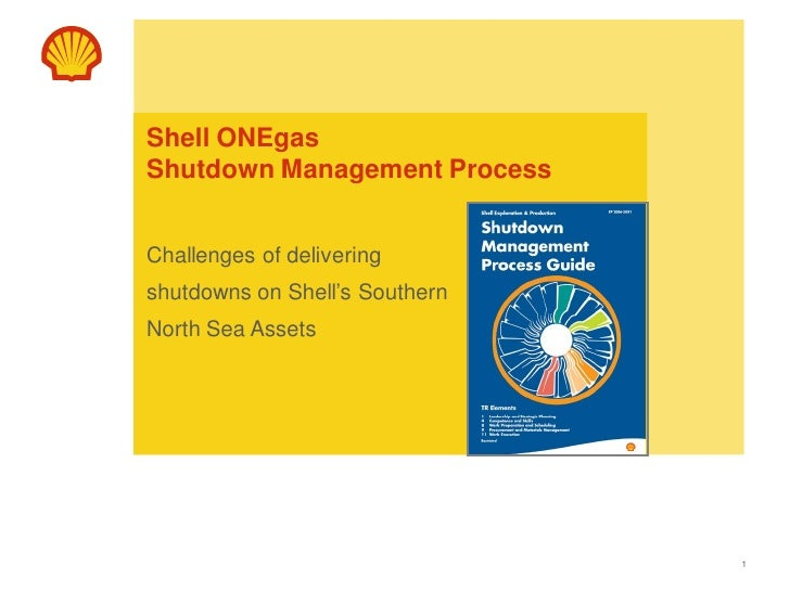 Shell ONEgasShutdown Management ProcessChallenges of deliveringshutdowns on Shell's SouthernNorth Sea Assets              ...
