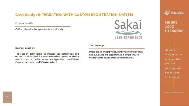 INTEGRATION WITH CUSTOM REGISTRATION SYSTEM - Entornos de Formacion Slide 2