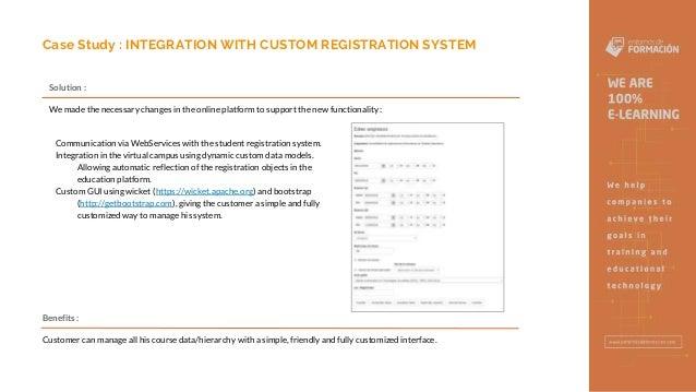 INTEGRATION WITH CUSTOM REGISTRATION SYSTEM - Entornos de Formacion Slide 3