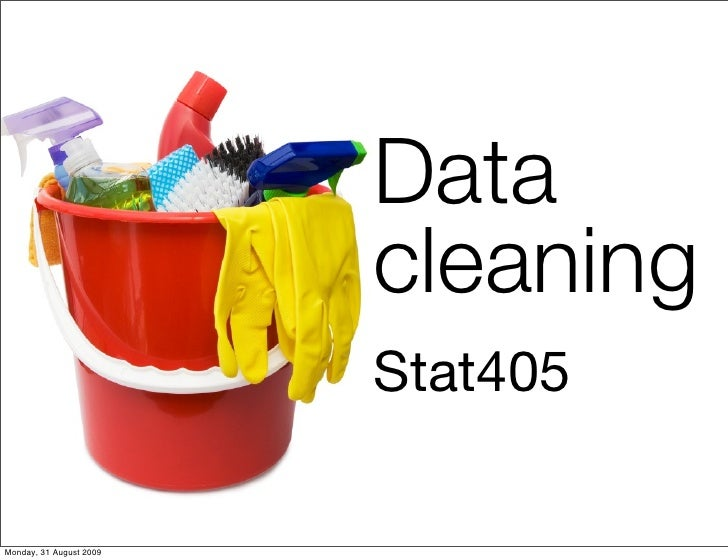 Data                                 cleaning                                 Stat405                           Hadley Wic...