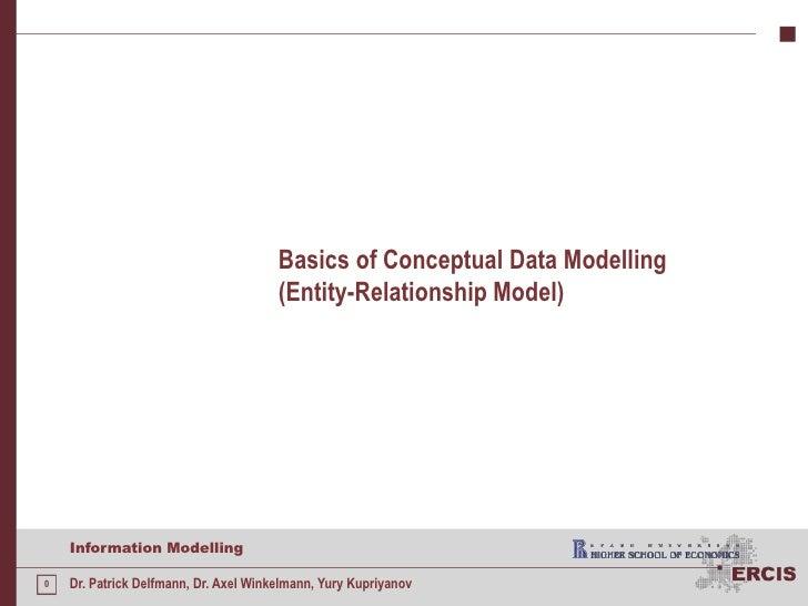 Basics ofConceptual Data Modelling(Entity-Relationship Model)<br />