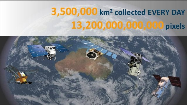Crowdsourcing 2 3,500,000 km2 collected EVERY DAY 13,200,000,000,000 pixels