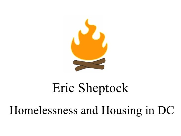 Eric Sheptock Homelessness and Housing in DC