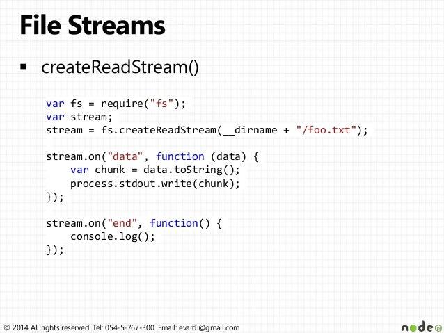 Node js File system & Streams
