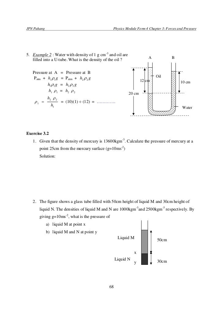 SPM PHYSICS FORM 4 forces and pressure
