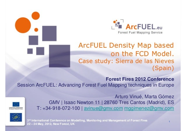 ArcFUEL Density Map based                                               on the FCD Model.                                 ...