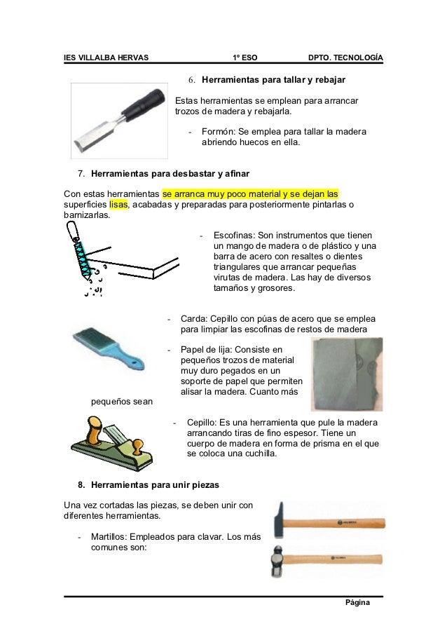 03 herramientas para trabajar la madera - Herramientas de madera ...