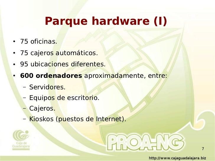 Gnu linux y software libre en caja de guadalajara for Oficinas caixa burgos