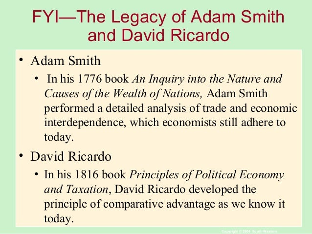 an analysis of international trade in wealth of nations by adam smith Adam smith believed that the wealth of nations was constrained primarily by the extent of the market place by expanding the market, the introduction of trade between.
