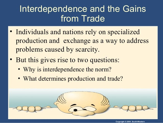 interdependence and the gains from trade Interdependence and the gains from trade home / quizzes / photography /  interdependence and the gains from trade interdependence and.