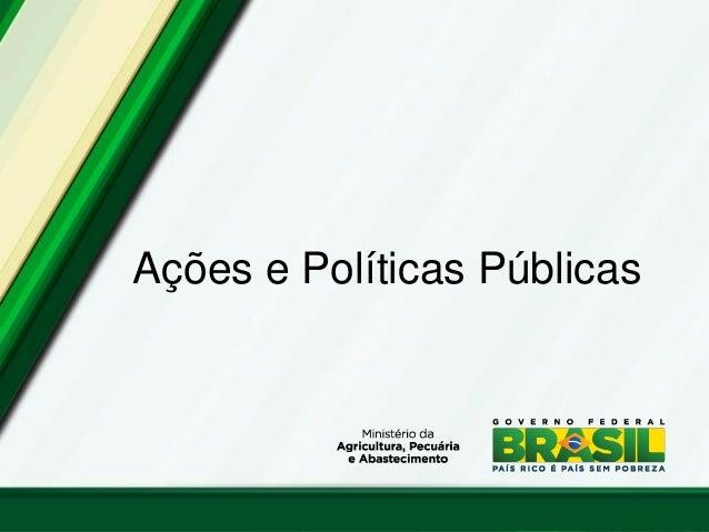 Ações e Políticas Públicas