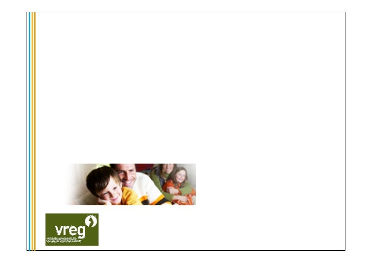 VREG's experiences and lessons  The Solar Future – 23 maart 2011     Vlaamse Reguleringsinstantie voor de Elektriciteits- ...