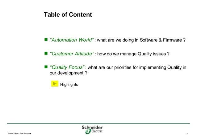 20070925 03 - La qualimétrie en environnement industriel (Schneider automation) Slide 2