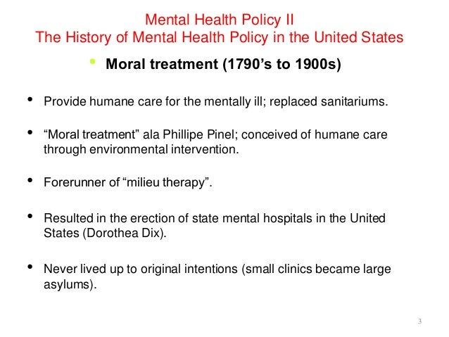 how mental illness was viewed historically It's important for us to remember the history of mental illness treatment  europe  in the 1600's: those considered mentally insane were chained.