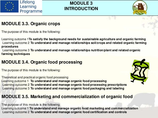 Organic Food Processing Transition