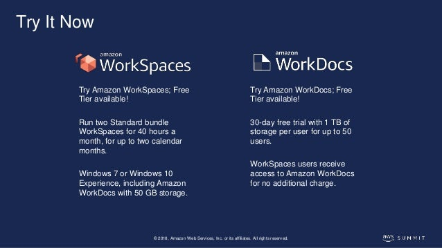 Move Your Desktop to AWS with Amazon Workspaces