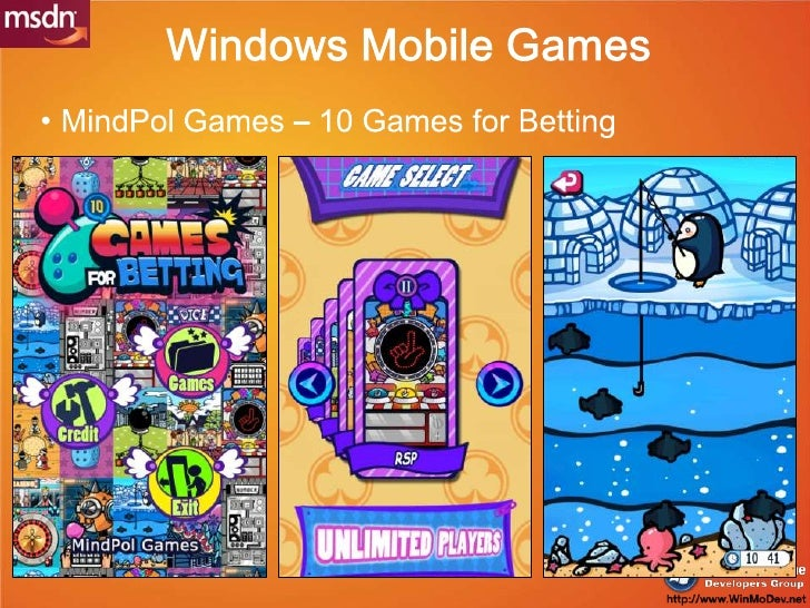 Windows Mobile Games<br />MindPol Games – 10 Games for Betting<br />