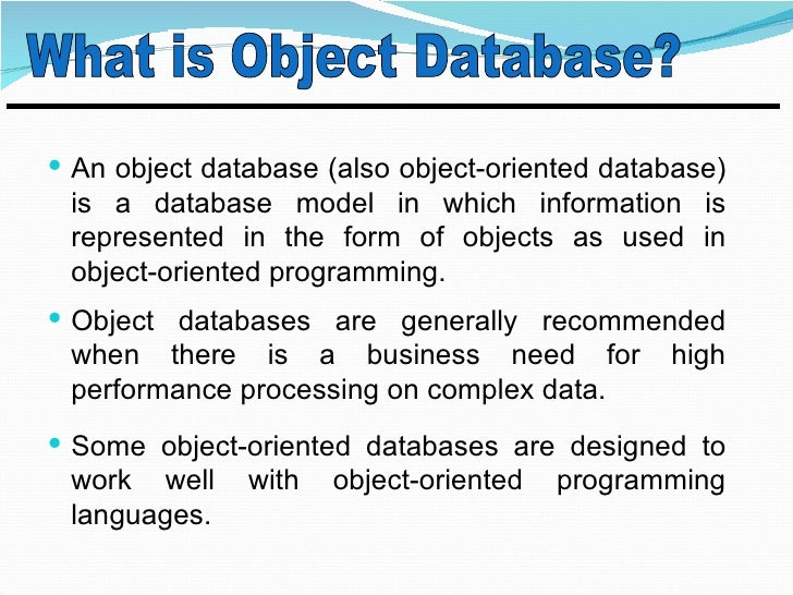 object oriented database 1 tu muenchen hauptseminar / ws2001/02 database hall of fame david maier object-oriented database theory an introduction & indexing in oodbs.