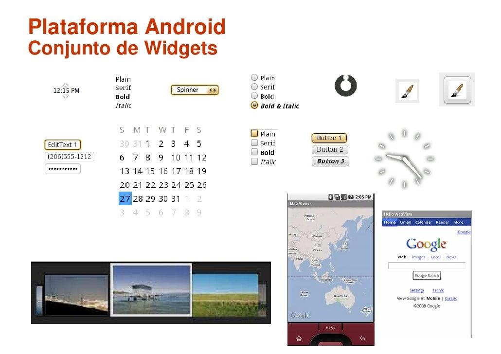 Plataforma Android Conjunto de Widgets