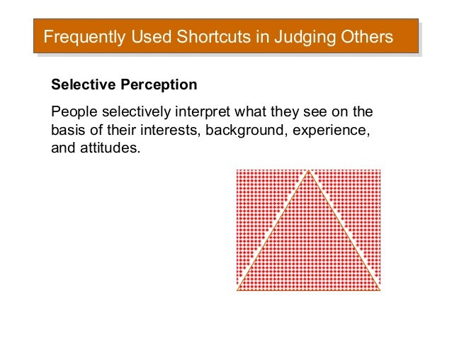 individual perception Best answer: perception is the process by which an individual selects, organizes, and interprets information inputs to create a meaningful picture.