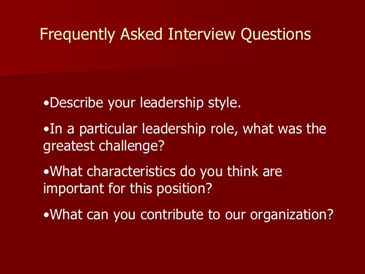 interview questions 48 describe your leadership style - How Would You Describe Your Leadership Style