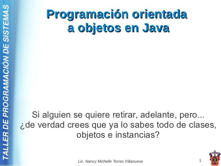 TALLER DE PROGRAMACIÓN DE SISTEMAS                                           Programación orientada                       ...