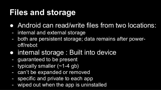 03 programmation mobile - android - (stockage, multithreads, web services) Slide 2