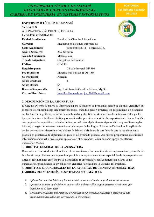 UNIVERSIDAD TÉCNICA DE MANABÍ                                                         PORTOVIEJO      FACULTAD DE CIENCIAS...
