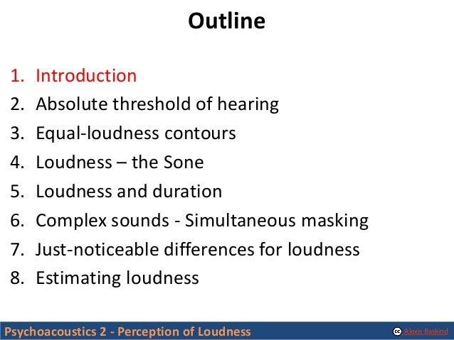 Psychoacoustics 2 - Perception of Loudness Slide 3