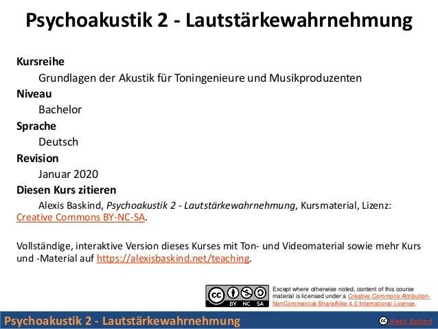 Psychoakustik 2 - Lautstaerkewahrnehmung Slide 2