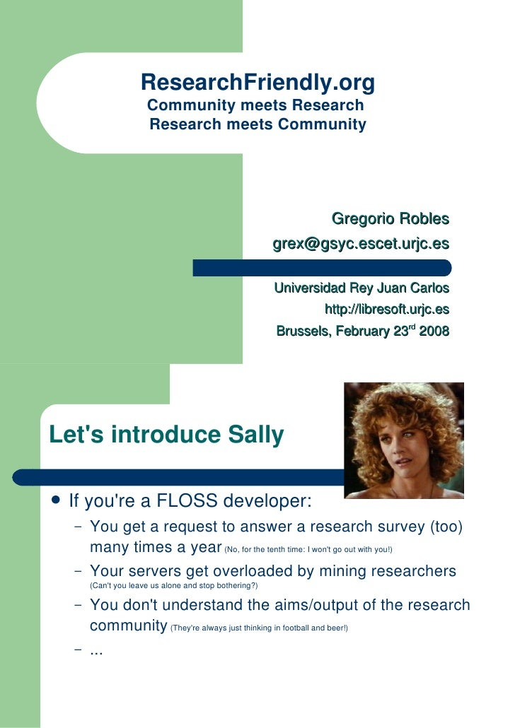 ResearchFriendly.org                       Community meets Research                       Research meets Community        ...