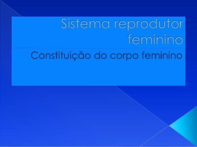   A principal função do sistema REPRODUTOR FEMININO é a produção de células reprodutoras feminino: os óvulos